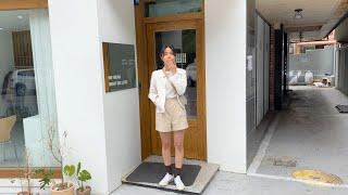 여름코디❣ 코튼반바지 린넨자켓 | 사색 쇼핑몰 촬영 스…