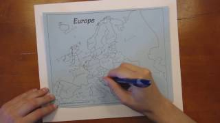 Labeling an Outline Map - Europe