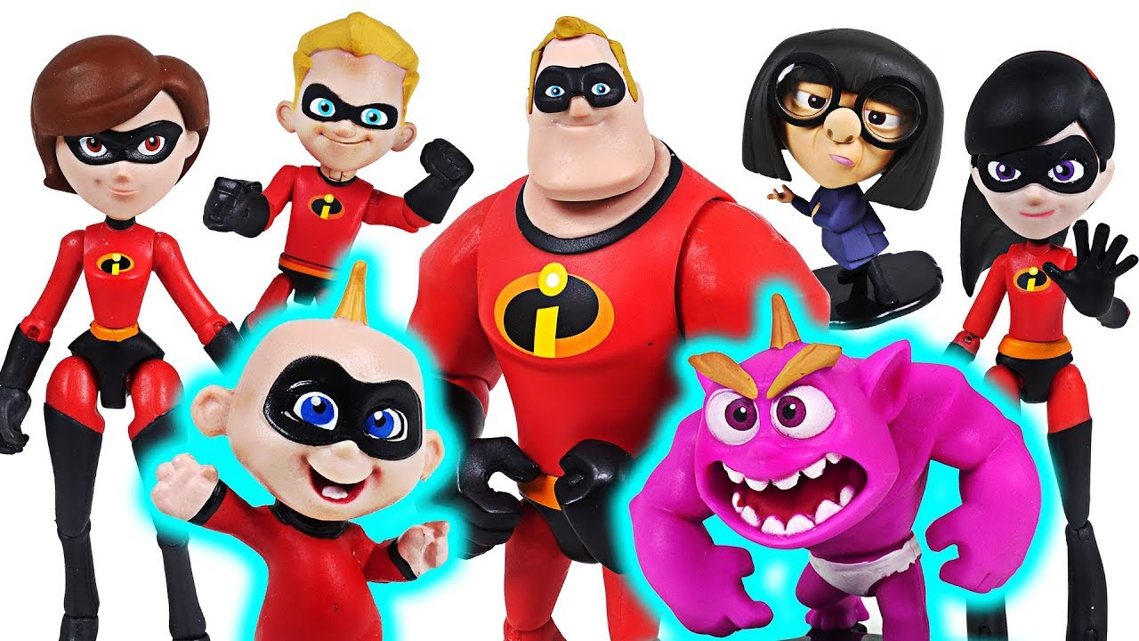 Giant Ogre appeared! Disney Incredibles 2 transform Jack-Jack and family! Go! - DuDuPopTOY