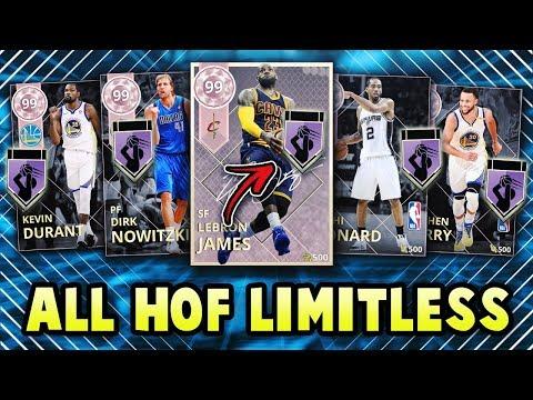 NBA 2K18 USING 13 HALL OF FAME LIMITLESS RANGE PLAYERS SQUAD| NBA 2K18 MyTEAM SQUAD BUILDER