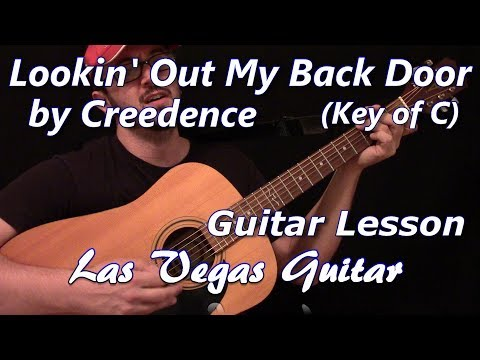 Lookin' Out My Back Door (Key of C) by Creedence Clearwater Revival Guitar Lesson