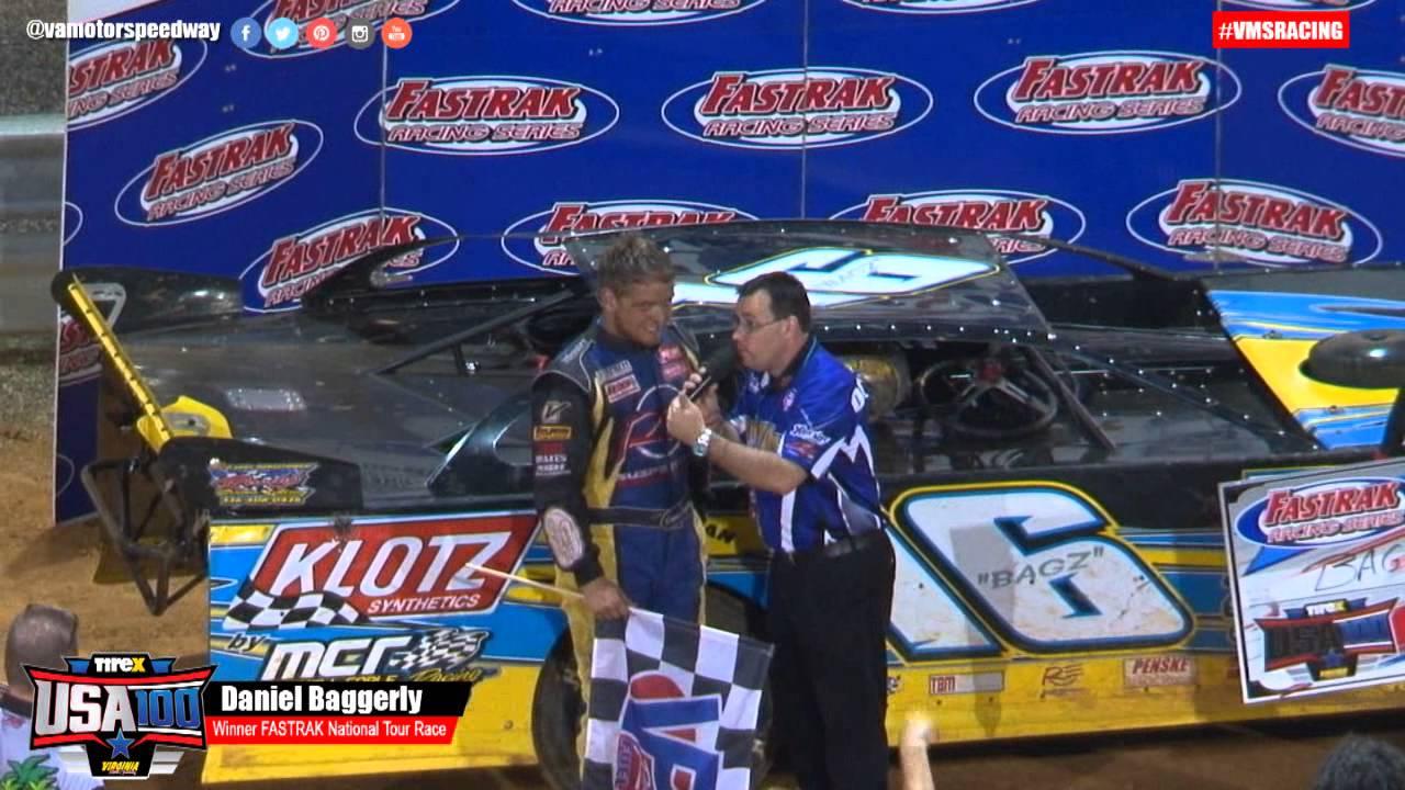 2015 TireX USA 100 Daniel Baggerly victory lane Interview