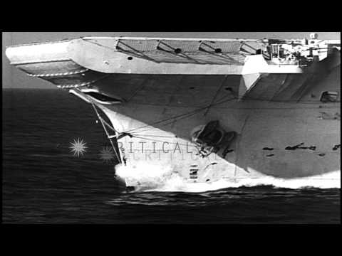 British Royal Navy fleet maneuvers in the Atlantic Ocean. HD Stock Footage