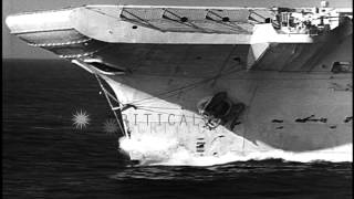 British Royal Navy fleet maneuvers in the Atlantic Ocean. HD Stock Footage