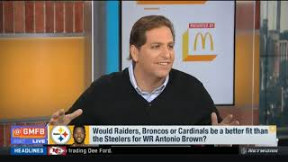 Would Raiders, Broncos or Cardinals be a better fit than the Steelers for WR Antonio Brown?