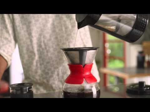 BODUM POUR OVER 咖啡手沖濾壺(1.0L) 相關視頻