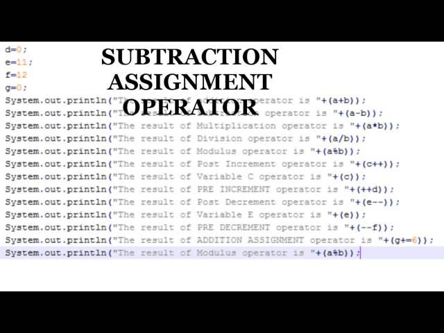 Java Tutorials - Java Operators(Arithmetic Operators Part 2)