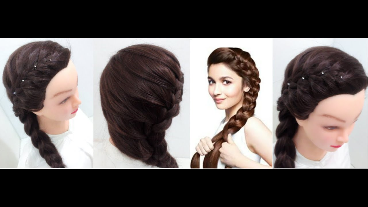 Side Braid: Hairstyles for medium hair  YouTube - Easy Hairstyles For Medium Hair