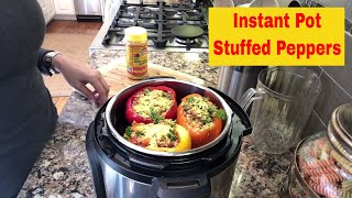 Ideal Protein - Instant Pot Stuffed Peppers
