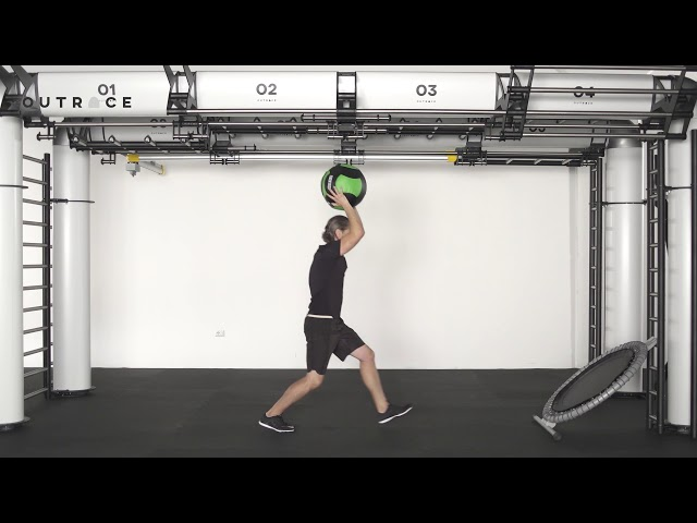 Ball Trampoline Lunge & High Throw