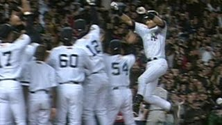 2001 WS Gm4: Jeter walks off after nine-pitch at-bat
