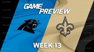 Carolina Panthers vs. New Orleans Saints   NFL Week 13 Game Preview   Move the Sticks 2017 Video