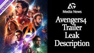 Avengers 4 Trailer Leak Description AG Media News