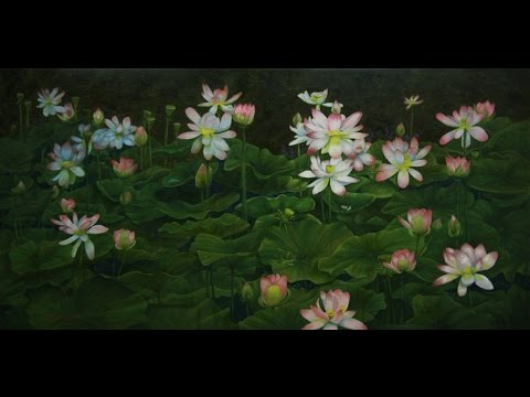 How to Paint a Pond Full of Water Lilies Oils or Acrylic