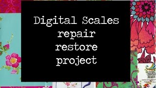 Digital Scales repair and rejunvenation project