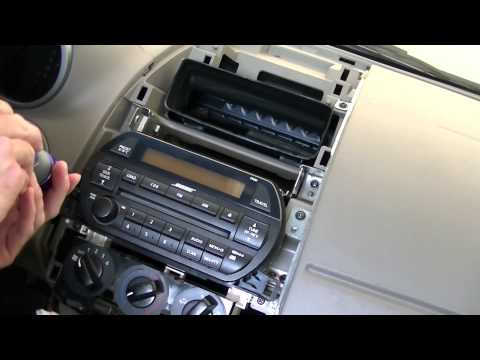Remove and Replace Radio on Nissan Altima 2002 2003 2004