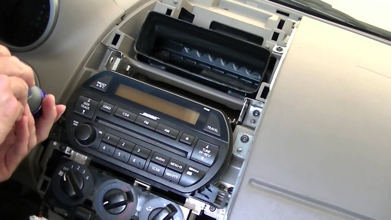 remove and replace radio on nissan altima 2002 2003 2004 youtuberemove and replace radio on nissan altima 2002 2003 2004