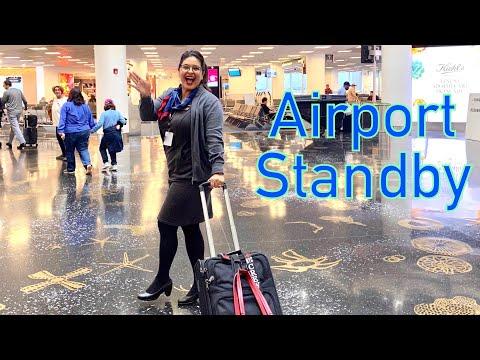 6 HOUR AIRPORT STANDBY - Flight Attendant Life - VLOG 2, 2020