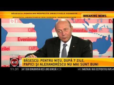 Traian Basescu, la Evenimentul Zilei (B1 TV), 3 octombrie 2013 -- emisiune completa