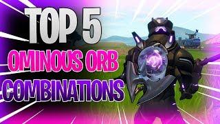 MON TOP 5 OMINOUS ORB SKIN COMBOS! - FORTNITE BATTLE ROYALE