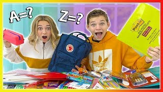 SCHOOL SUPPLY HAUL IN ALPHABETICAL ORDER | We Are The Davises