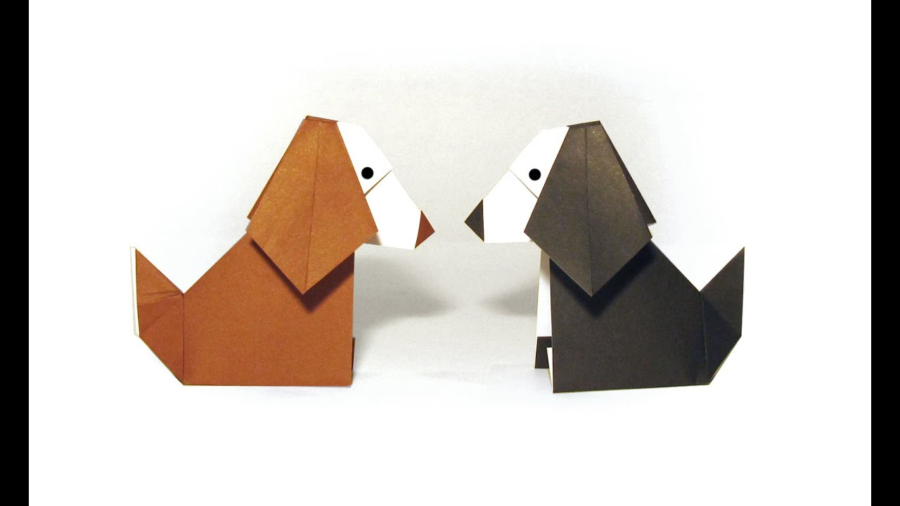 Origami dog face how to origami - Easy Origami Dog Tutorial How To Make An Easy Origami Dog Youtube