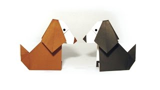 Easy Origami Dog - Tutorial - How to make an easy origami Dog