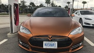 Tesla Model S Dipped (PROLINE) in Burnt Copper Satin Finish