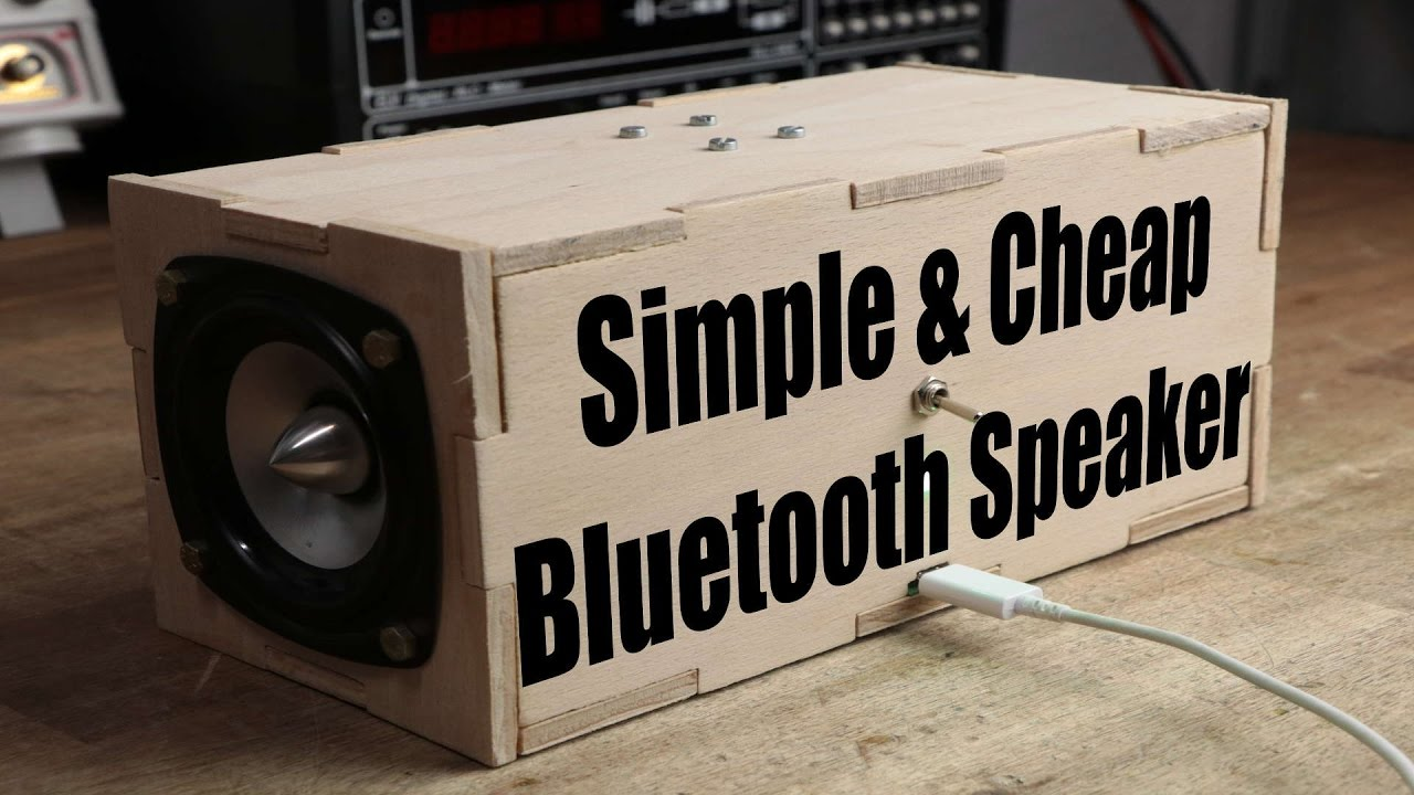 Make Your Own Simple Cheap Portable Bluetooth Speaker Youtube Simplelm317solarchargerv10schematic