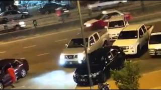 Angry driver rams into double parked MyVi