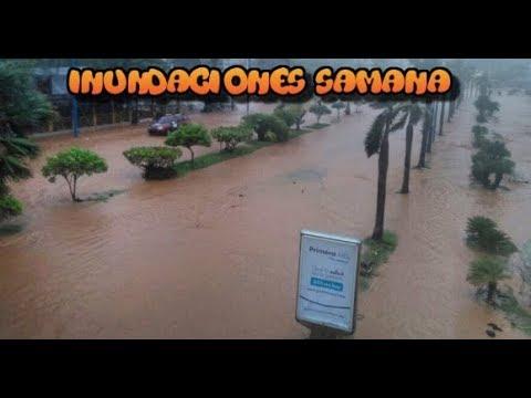Inundaciones en Samana y Las Terrenas a causa del Huracan Maria 21/09/2017