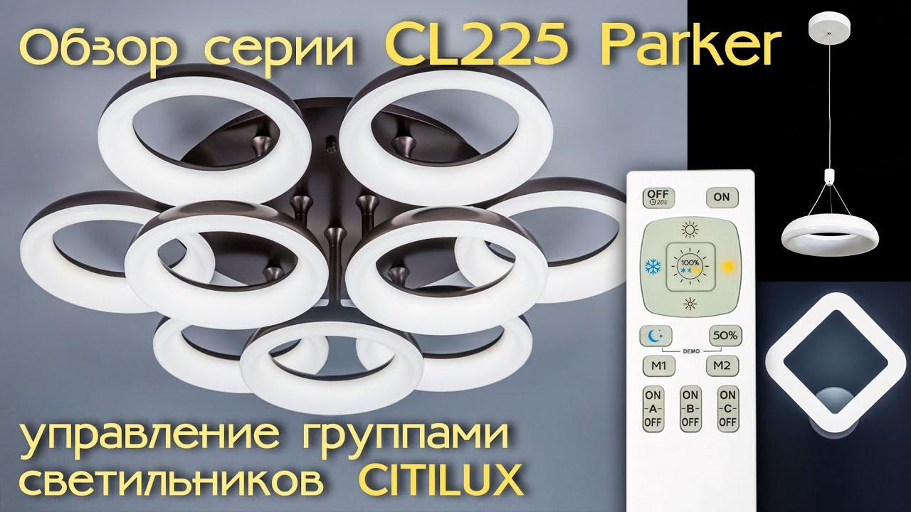Люстра потолочная светодиодная с пультом Citilux Паркер CL225295R Кофейный