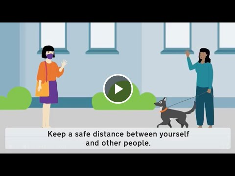Stay Safe from COVID-19: Keep a Safe Distance