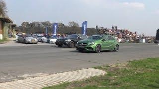 Mercedes A45 AMG vs Brabus S63 AMG vs 700 HP RS6 vs GT3 RS DRAGRACE!