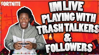 PLAYING FORTNITE WITH TRASH TALKERS! |3000+ WINS|