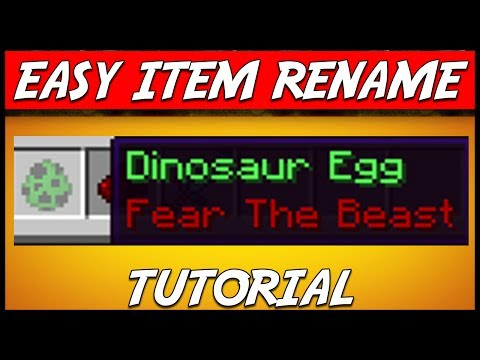 Minecraft | EASY ITEM RENAME (Change item names forever!) | Plugin Tutorial