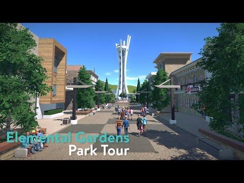 Planet Coaster - Elemental Gardens - Park Tour