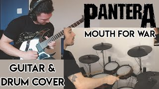 Pantera - Mouth For War (Drum and Guitar Cover ft My Brother in Law)