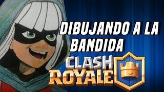 Dibujando a la bandida de clash royale