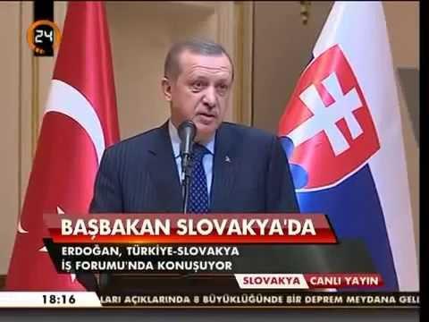 Başbakan Erdoğan: Türkiye Slovakya İş Forumu Konuşması