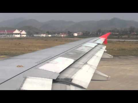 Air Asia, FD1030 landing at Luang Prabang (2)