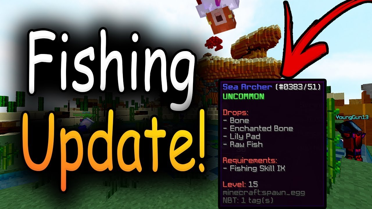 Hypixel Skyblock - Fishing Major Update! (Bosses, Enchants, and New  Collections)