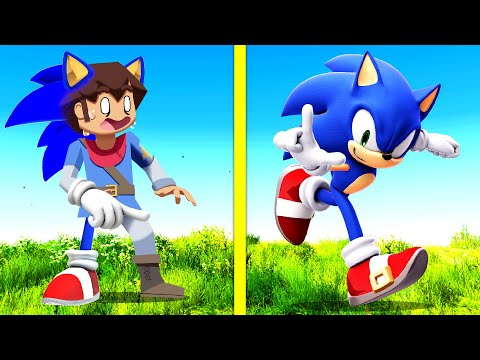 Playing As EVERY SONIC In GTA 5! (Impossible ...)