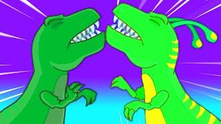 Groovy el Marciano se transforma en un dinosaurio y viaja al jurásico - Dibujos infantiles thumbnail