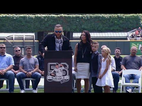 OAK@CWS: Buehrle speaks at number retirement ceremony