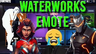 NEW WATERWORKS EMOTE SHOWCASE ON DIFFERENT SKINS - FORTNITE STORE