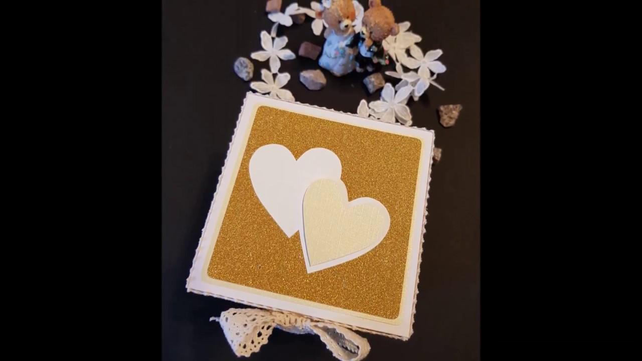 Hochzeitsbox Gold Goldenehochzeit Explosionsbox Geschenkbox