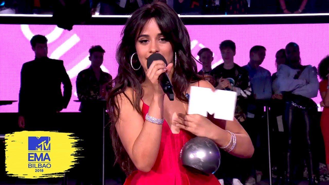 Camila Cabello Accepts Award for Best Song | MTV EMAs 2018