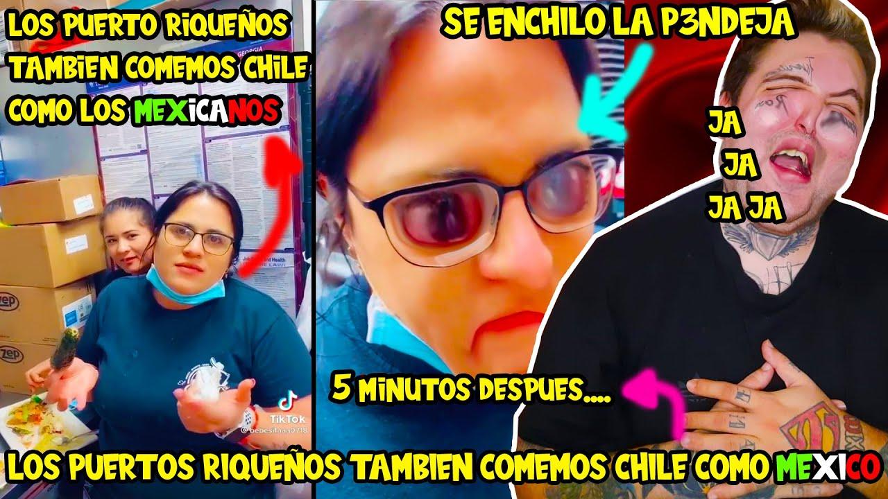 🇵🇷 TIKTOKER Puerto riqueña presume que come chile como los mexicanos y se enchila