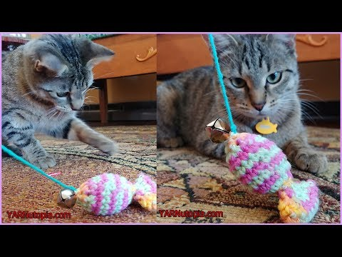 How To Crochet Tutorial: DIY Catnip Sardine Toy By YARNutopia By Nadia Fuad